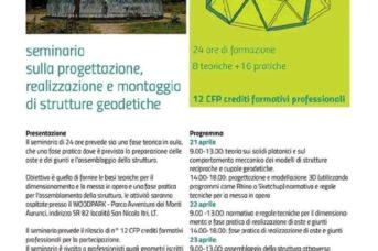Seminario sulla progettazione, realizzazione e montaggio delle strutture geodetiche